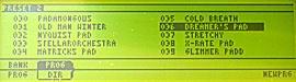 Adresářová struktura výpisu presetů